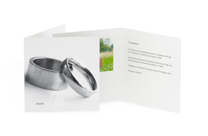 Inviti matrimonio collezione Siviglia Quadratische Klappkarte
