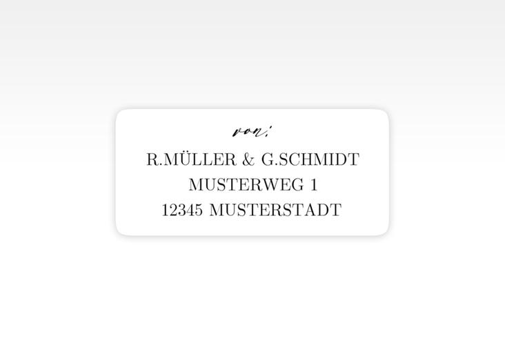 """Absenderetikett Hochzeit """"Demure"""" 45,7 x 21,2 mm weiss"""