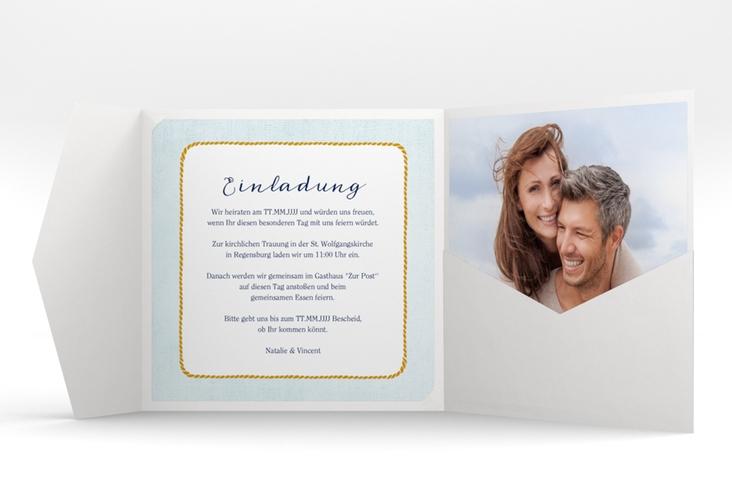 """Hochzeitseinladung """"Anker"""" Pocketfold"""
