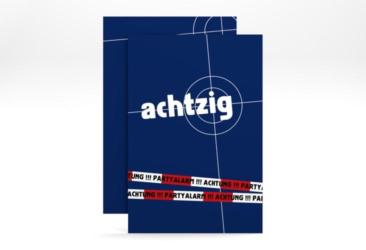 "Einladungskarte ""Feierort"" A6 hoch blau"