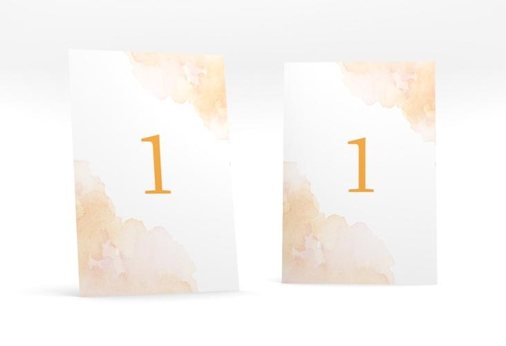 """Tischnummer Hochzeit """"Blush"""" Tischaufsteller"""
