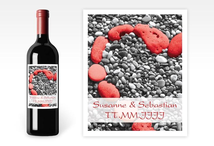 """Weinetikett Hochzeit """"Bilbao"""" Etikett Weinflasche 4er Set"""