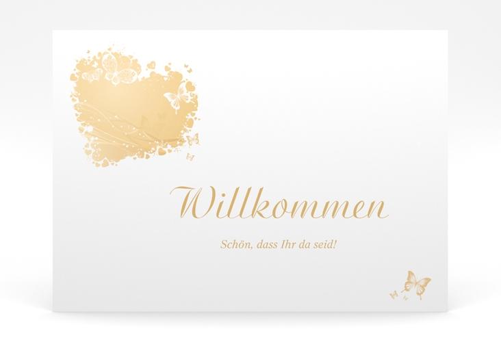 """Willkommensschild Poster """"Mailand"""" 70 x 50 cm Poster beige"""
