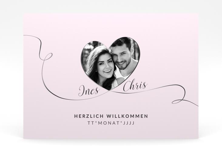 "Willkommensschild Poster ""Dolce"" 70 x 50 cm Poster rosa"