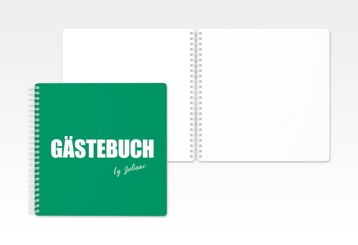 "Gästebuch Geburtstag ""Zig"" Ringbindung gruen"
