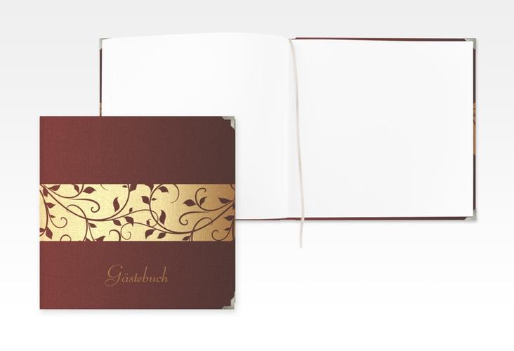 """Gästebuch Selection Geburtstag """"Hermann/Hermine"""" Leinen-Hardcover gold"""