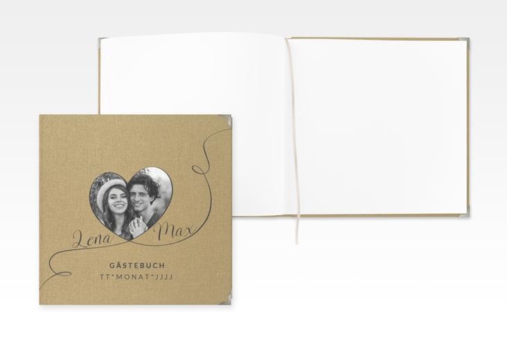 """Gästebuch Selection Hochzeit """"Herzensbund"""" Leinen-Hardcover"""