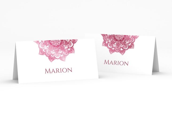 """Tischkarte Hochzeit """"Delight"""" Tischkarten pink"""