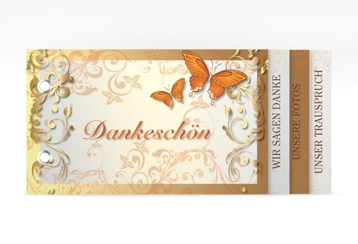 """Danksagungskarte Hochzeit """"Toulouse"""" Booklet orange"""