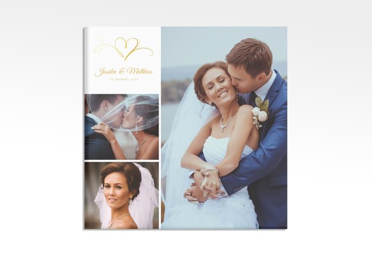 "Hochzeitscollage Leinwand ""Envie"" 30 x 30 cm Leinwand gold"