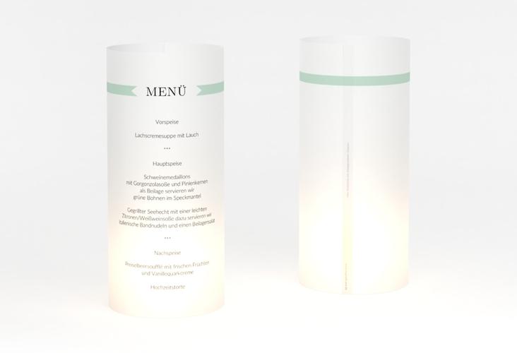 """Windlicht Menü Hochzeit """"Tender"""" Windlicht mint"""