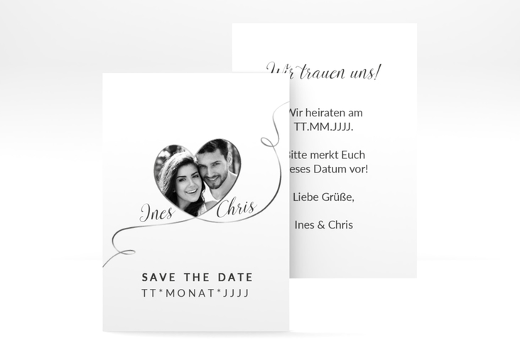"""Save the Date-Visitenkarte """"Dolce"""" Visitenkarte weiss"""