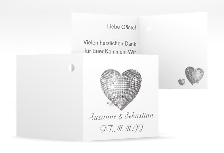 "Geschenkanhänger Hochzeit ""Rimini"" Geschenkanhänger 10er Set grau"