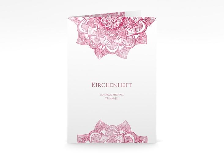 """Kirchenheft Hochzeit """"Delight"""" DIN A5 geklappt pink"""