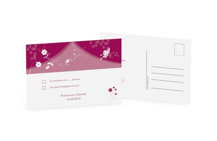 Biglietti risposta matrimonio collezione Verona A6 Postkarte