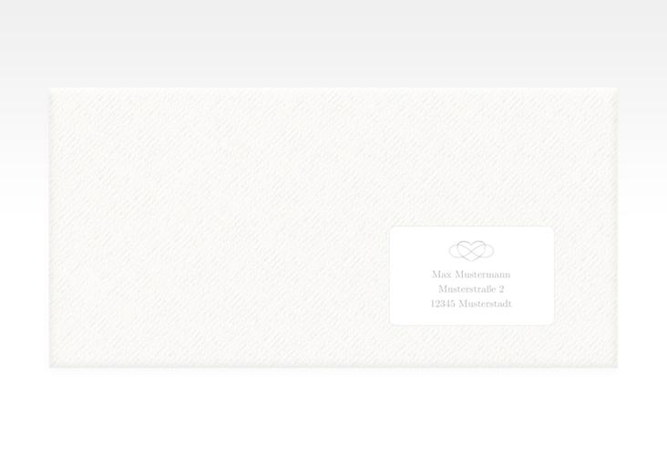 """Empfängeretikett Hochzeit """"Infinity"""" 63,5 x 38,1 mm grau"""