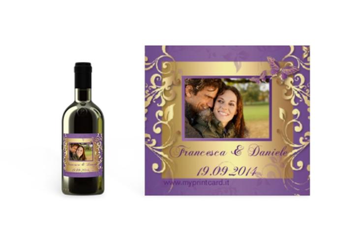 Etichette piccolo matrimonio collezione Tolosa Etikett Piccolo lila