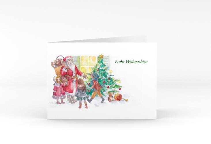 """Weihnachtskarte """"Bescherung"""" A6 Klappkarte Quer"""