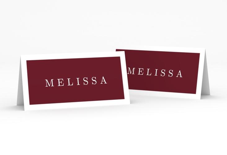 """Tischkarte Hochzeit """"Simply"""" Tischkarten rot"""