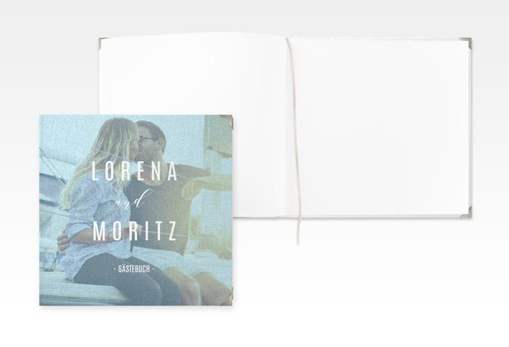 """Gästebuch Selection Hochzeit """"Memory"""" Leinen-Hardcover tuerkis"""