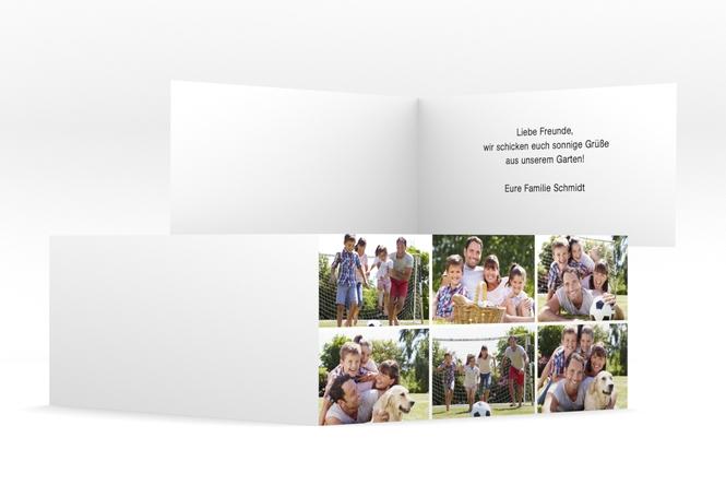 DIN-lang Klappkarte – 6 Bilder DIN lang Klappkarte
