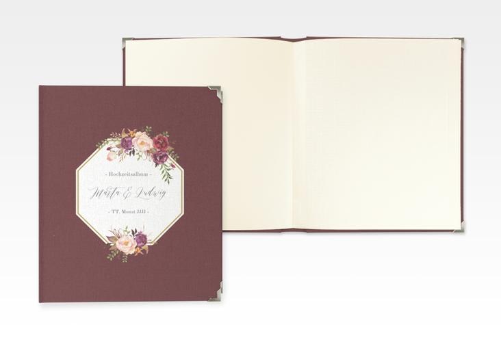 """Hochzeitsalbum """"Prachtvoll"""" 21 x 25 cm rot"""