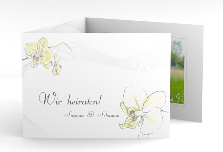 """Einladung Hochzeit """"Modena"""" A6 doppelt geklappt"""