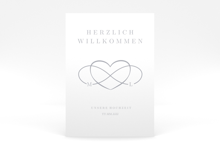 "Willkommensschild Poster ""Infinity"" 50 x 70 cm Poster grau"