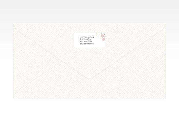 """Absenderetikett Hochzeit """"Parma"""" 45,7 x 21,2 mm rosa"""