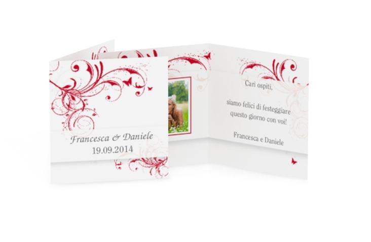 Biglietti Bomboniera matrimonio collezione Palma Geschenkanhänger 10er Set rosso