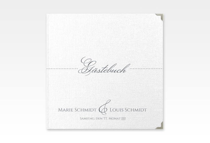 "Gästebuch Selection Hochzeit ""Pure"" Leinen-Hardcover grau"