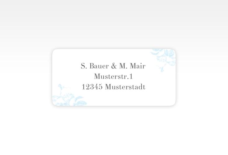 """Absenderetikett Hochzeit """"Magnificent"""" 45,7 x 21,2 mm tuerkis"""