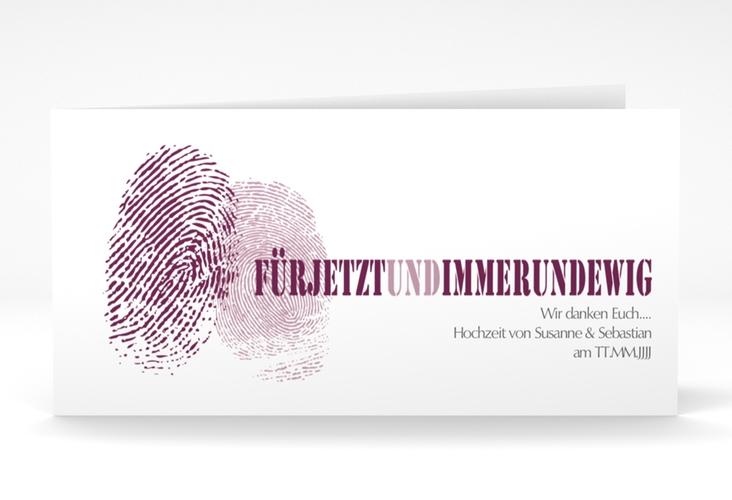 "Dankeskarte Hochzeit ""Messina"" DIN lang Klappkarte"