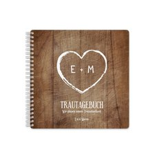 "Trautagebuch Hochzeit ""Wood"""