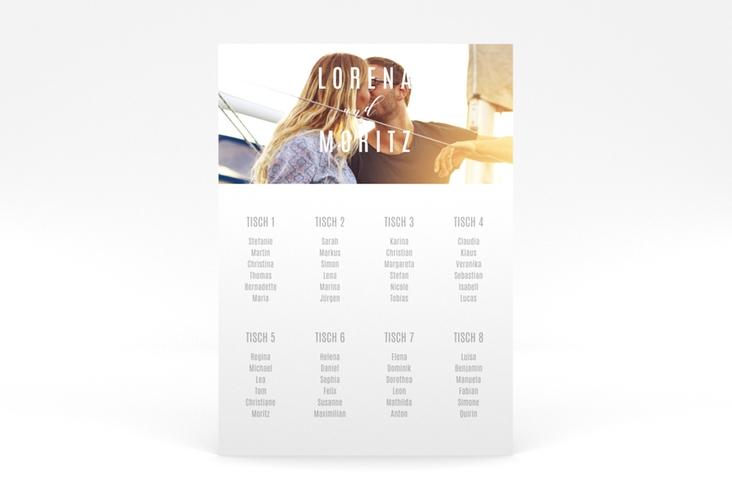 """Sitzplan Poster Hochzeit  """"Memory"""" 50 x 70 cm Poster weiss"""