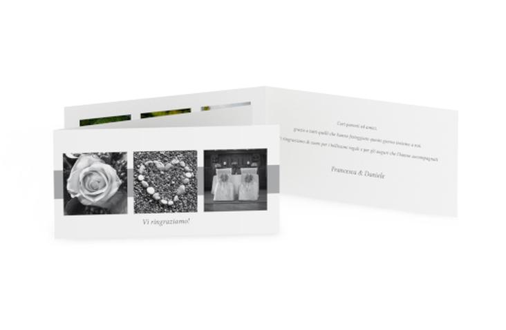 Ringraziamenti matrimonio collezione Marseille DIN lang Klappkarte