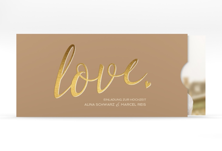 """Hochzeitseinladung """"Glam"""" Einsteckkarte"""