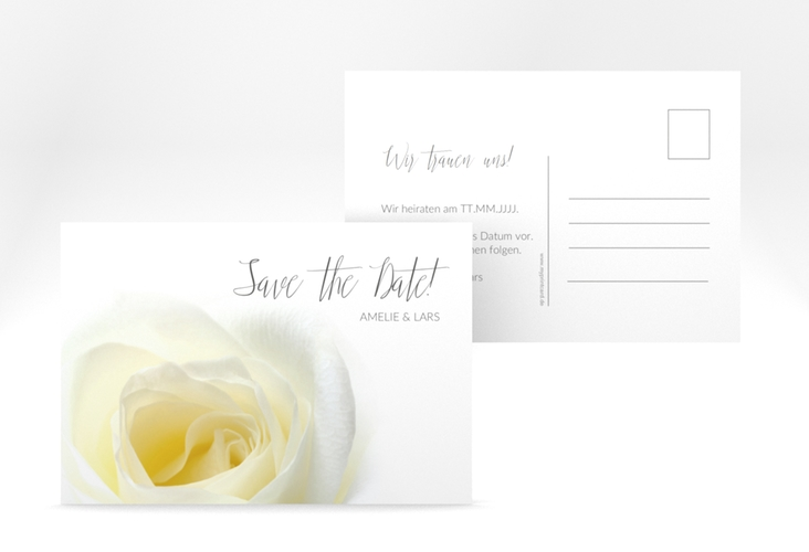"Save the Date-Postkarte ""Rose"" A6 Postkarte"