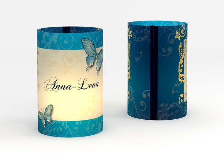 """Windlicht Hochzeit """"Toulouse"""" Windlicht blau"""