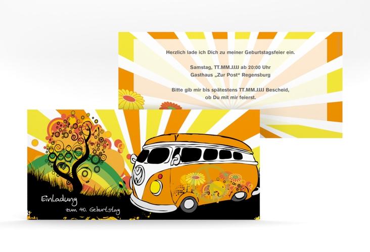 "Einladungskarte ""Heiko/Heike"" DIN lang"