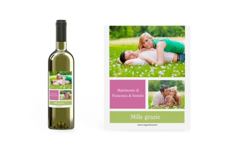 Etichette vino matrimonio collezione Nizza Etikett Weinflasche 4er Set