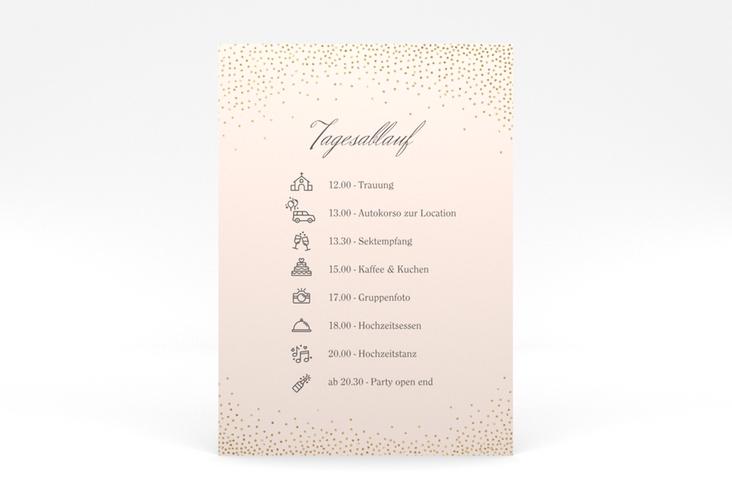 """Tagesablauf Poster Hochzeit """"Glitter"""" 50 x 70 cm Poster rosa"""