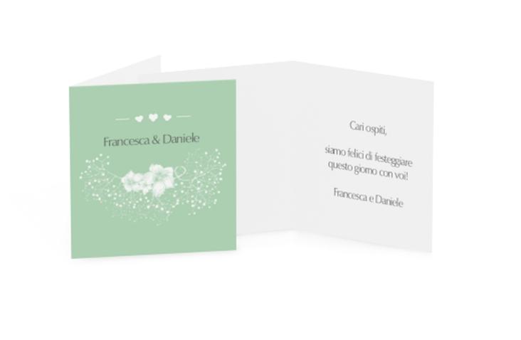 Biglietti Bomboniera matrimonio collezione Pescara Geschenkanhänger 10er Set verde