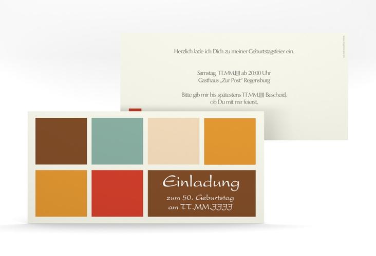 "Einladungskarte ""Daniel/Daniela"" DIN lang braun"