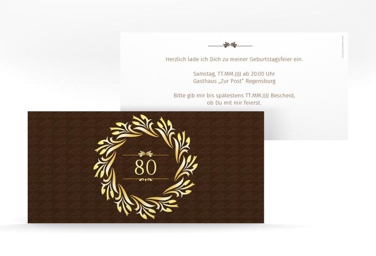 "Einladungskarte ""Manfred"" DIN lang"