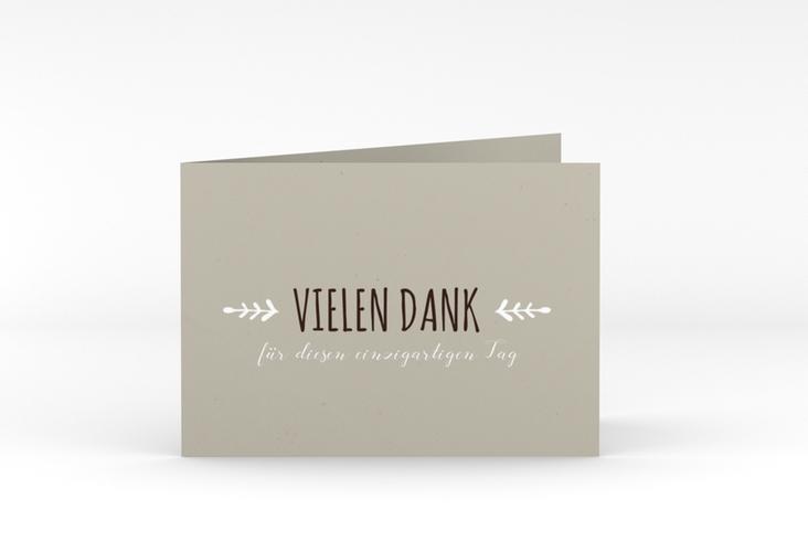 "Danksagungskarte Hochzeit ""Eden"" A6 Klappkarte Quer weiss"
