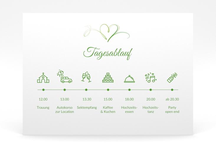 """Tagesablauf Poster Hochzeit """"Envie"""" 70 x 50 cm Poster gruen"""