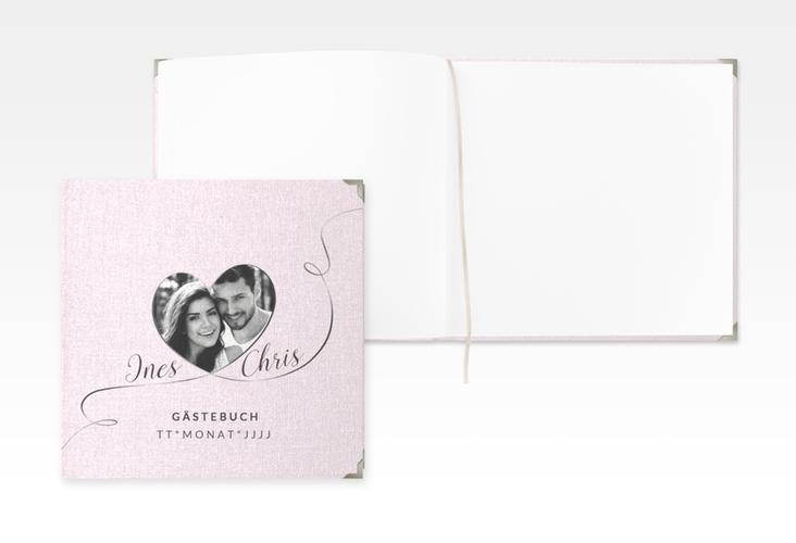 "Gästebuch Selection Hochzeit ""Dolce"" Leinen-Hardcover rosa"