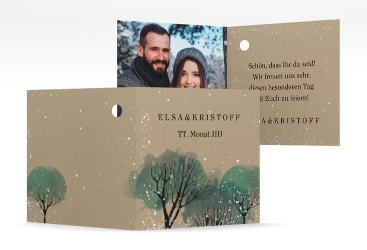 """Geschenkanhänger Hochzeit """"Winterhochzeit"""" Geschenkanhänger 10er Set beige"""