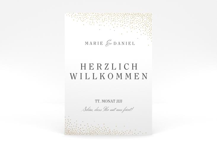 "Willkommensschild Poster ""Glitter"" 50 x 70 cm Poster weiss"